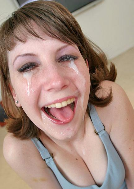 Tears of jizz?; Blonde Cumshot Funny