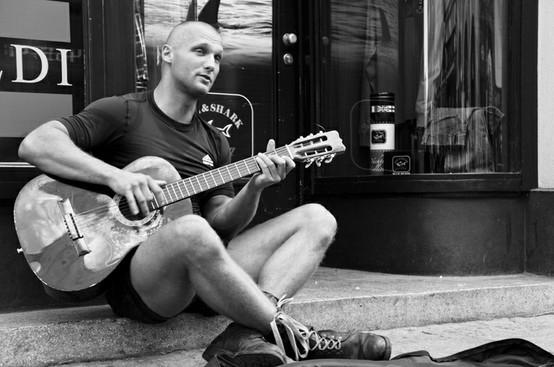 Street musician...; Men