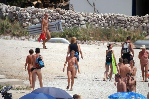 Nude and Beach - Gang Bang On Beach; Amateur Beach