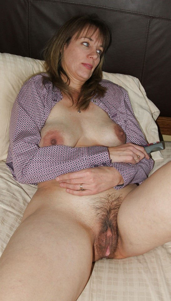 older woman with hairy vagina