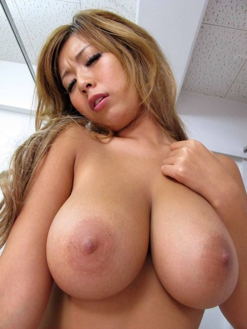 Excited asian japanese big tits