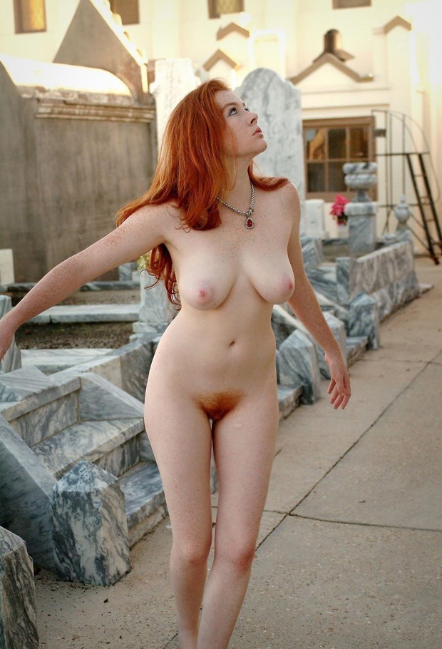 Fiery Redhead With Perfect Body Has Even More Red Pubic Hair