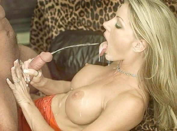 Blonde Huge Tits Handjob Cum Shot