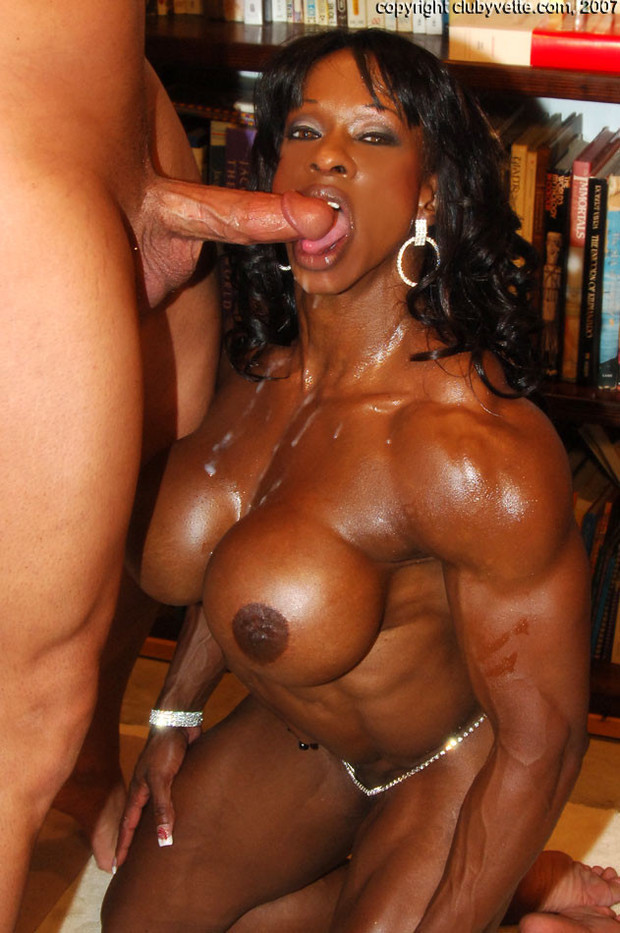 Interracial female muscle