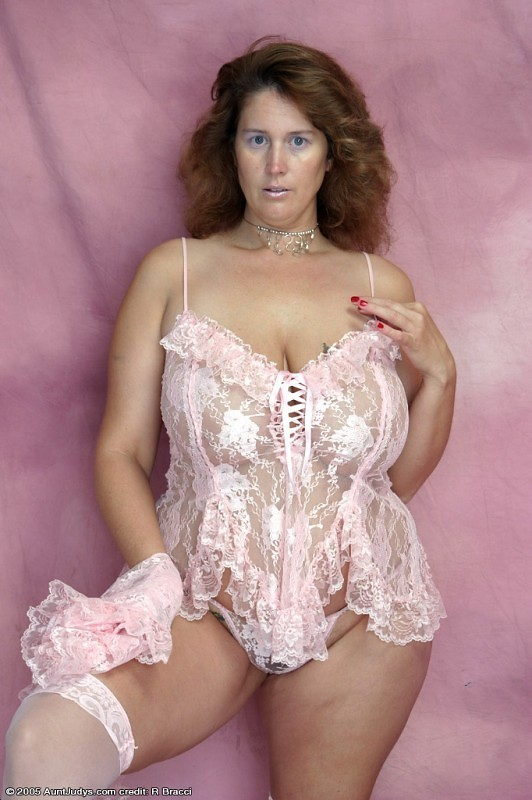 ...; BBW Big Tits Brunette Lingerie