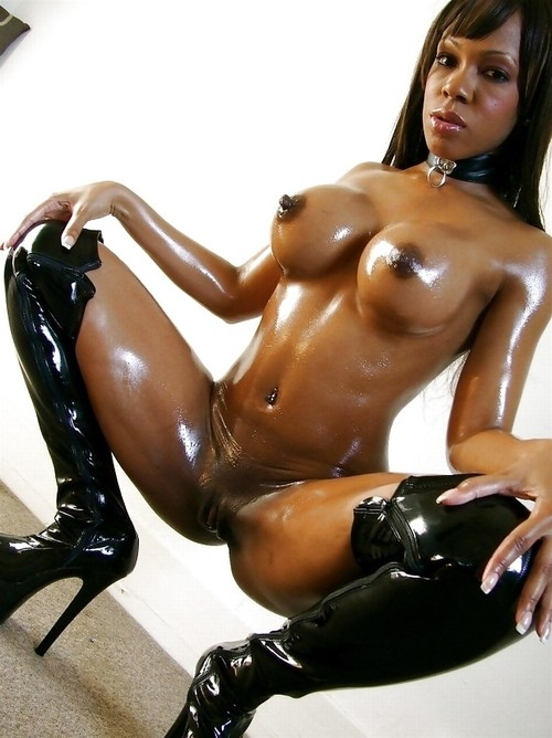 oiled nude black women