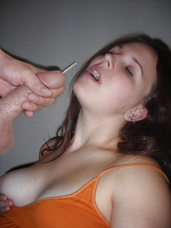 Cum shot mouth amateur