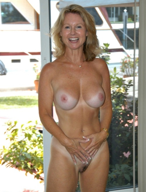 ...; Amateur Blonde MILF Tanlines
