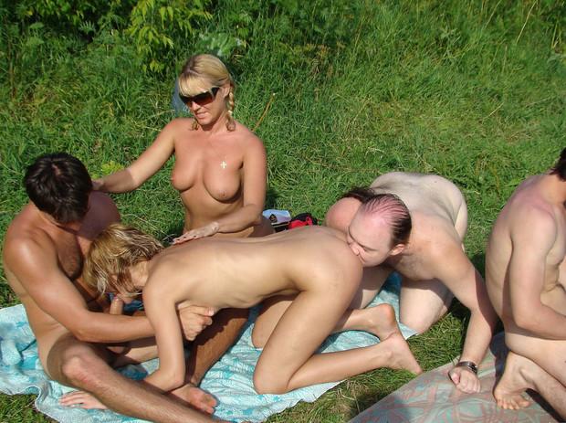...; Amateur Group Sex MILF Public Sex