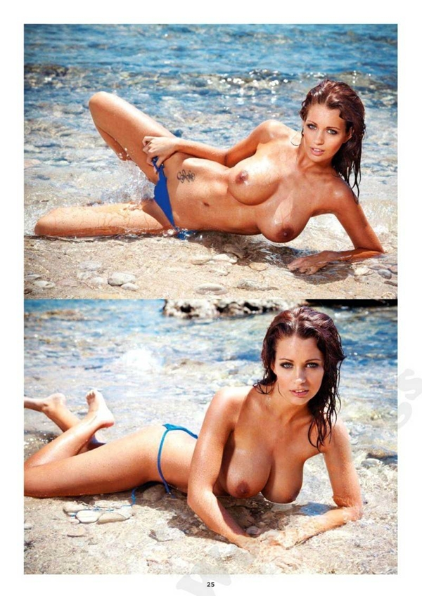 Holly Peers; Babe Brunette Outdoor British Beach